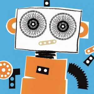 Kalandraka, Os meus robôs em pijamarama, Michaël Leblond, Frédérique Bertrand