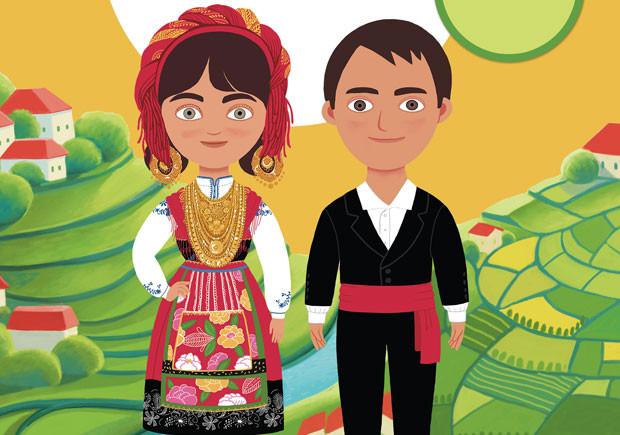 O traje tradicional do Minho, Editorial Presença, Vanessa Leão, Oksana Grivina