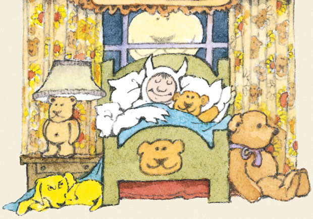"""Um livro para pré-leitores com ursos unidos e destemidos contra o cão que fugiu levando, na boca, um deles, ou contra todos os que ainda não entenderam como um livro se pode, facilmente, transformar num divertido jogo. """"Ursos"""" (Kalandraka, 2015) é um livro de onomatopeias, de escassas palavras num texto rimado, de humor e algum nonsense. O texto, da autoria de Ruth Krauss, foi publicado originalmente em 1948, com imagens de Phyllis Rowland. Em 2005, a mesma história foi recriada por Maurice Sendak, que transformou os ursos em animais cheios de personalidade, irrequietos e decididos, incutindo à obra o seu condimento muito próprio de comédia. Neste trabalho, Sendak faz até uma homenagem à sua obra emblemática, """"Onde vivem os monstros"""", colocando o personagem Max como o menino que, vestindo um fato de lobo, se junta ao ursinho de peluche para ir dormir. O que este Max não esperaria era os ciúmes do seu cão que, assim, rouba o urso, desencadeando uma verdadeira caça ao cão por um grupo de ursos enormes e surpreendentes. Na corrida, o cão de ursinho na boca atravessa locais inesperados, onde os ursos reclamam aquilo que valem, mesmo que seja preciso pisar o risco. A parceria entre Ruth Krauss e Maurice Sendak ofereceu grandes e excelentes resultados, que não se esgotaram neste """"Ursos"""". Na verdade, entre 1950 e 1960, os dois foram protagonistas de uma verdadeira renovação do álbum ilustrado, com propostas inovadoras. A autora escreveu mais de 30 livros infantis, oito deles ilustrados por Sendak. Por seu lado, Maurice Sendak deixou mais de 90 livros infantis, tendo recebido importantes galardões como o Prémio Andersen, a Medalha Nacional das Artes do Governo dos Estados Unidos ou o Prémio Internacional Astrid Lindgren de Literatura Infantil. """"Ursos"""" chega, aos dias de hoje, com a mesma vitalidade do tempo em que foi concebido e realizado por esta dupla criativa. Mantendo, na tradução, o texto rimado do original, este livro é um jogo de palavras e sons, dando voz aos delír"""