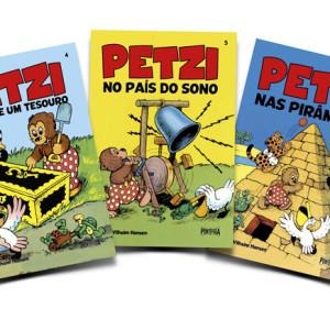 Ponto de Fuga, Petzi, Petzi descobre um tesouro, Petzi no país do sono, Petzi nas pirâmides
