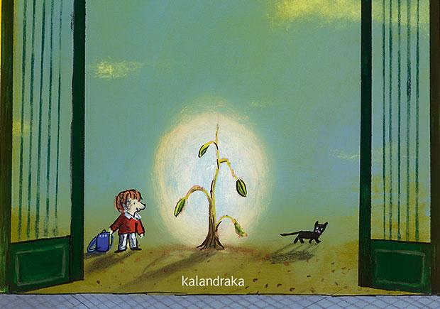 A árvore da escola, Antonio Sandoval, Deus Me Livro, Kalandraka, Emilio Urbernaga