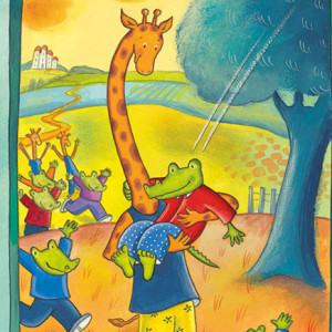 Crocodilo e Girafa, Deus Me Livro, Kalandraka, Daniela Kulot