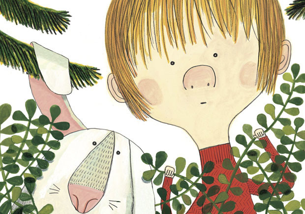 """Em Portugal, os últimos anos têm sido gloriosos no que toca ao universo literário infantil. Uma das boas consequências deste boom - de editoras e edições - tem sido a publicação de autores que, até há bem pouco tempo, permaneciam desconhecidos do grande público. Entre esses autores está Benjamin Chaud, um premiado autor e ilustrador que utiliza, de forma deliciosa e algo insólita, o humor. Depois de """"A Cantiga do Urso"""", """"As Férias do Pequeno Urso"""" - dois títulos com um toque de Onde está o Wally - e, juntamente com Davide Cali, os inseparáveis """"Não Fiz os Trabalhos de Casa Porque..."""" e """"Cheguei Atrasado à Escola Porque..."""", a Orfeu Mini acaba de receber o seu quinto título, novamente em grande formato: """"Adeus, Peúgas"""" (Orfeu Negro, 2017). O herói silencioso desta narrativa dá pelo nome de Peúgas, um coelho-anão que recebeu esse nome por ter umas orelhas tão compridas que se arrastavam pelo chão como um par de meias. O (também) pequeno narrador da história não o acha assim grande companheiro de brincadeiras pois, além de não saber jogar à bola ou à apanhada, não consegue distinguir entre um cowboy e um índio. Decidido a arranjar outro melhor amigo, resolve livrar-se do coelho, abandonando-o numa floresta.Deixa-o então amarrado a uma árvore com a ajuda de um fio da sua camisola, mas cedo o arrependimento bate à porta. Porém, quando volta atrás para reparar o seu erro, nem sinal do Peúgas. Nesta história de amizade, reencontro e descoberta, Benjamin Chaud conduz o leitor ao meio natural, lugar onde se sente em casa e que desenha com grande detalhe, trazendo para o papel o barulho das folhas a ser pisado ou do vento a assobiar por entre troncos e ramadas. Fantástica é, também, a forma como Chaud desenha os animais: aquela expressão canina, em pose a preceito numa festa de chá de água fria, merece um poster emoldurado para ser afixado em lugar de honra."""