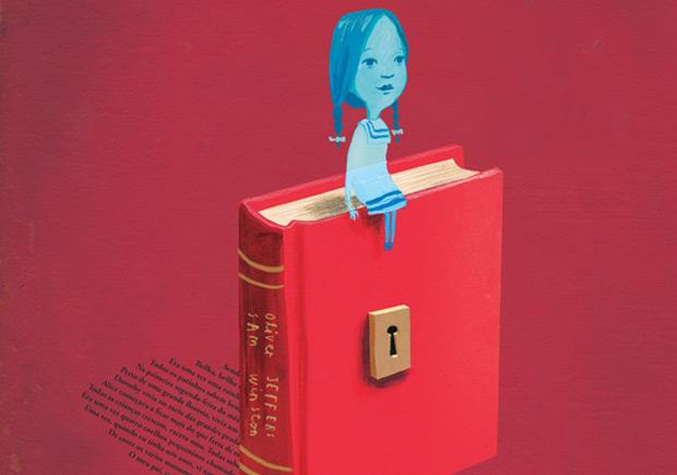 A Menina dos Livros, Oliver Jeffers, Sam Winston, Deus Me Livro, Editorial Presença