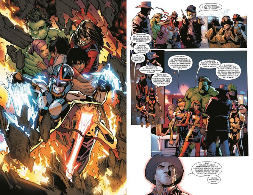 """O universo Marvel está a mudar. Em anos recentes, assistimos a transformações tão atrevidas quanto o Capitão América ser negro, o mais novo aspirante a Homem-Aranha ter origem hispânica e, <em>last but not least</em>, o martelo de Thor ser empunhado por uma mulher. Agora, o Especial Marvel nº 5 confirma que o planeta Marvel pertence às novas gerações com a edição de """"<strong>Campeões: Mudar o Mundo</strong>"""" (<a href=""""https://www.facebook.com/BDMarvelGoody/"""">Goody</a>, 2018), que traz para a frente do palco heróis como Miss Marvel, Nova e Homem-Aranha (Miles Morales).  Depois dos acontecimentos pouco memoráveis da Guerra Civil II, Miss Marvel farta-se do heroísmo sem causa da velha guarda de super-heróis e decide abandonar os Vingadores, juntando-se a Nova e ao Homem-Aranha-Miles-Morales para agirem por conta própria (e por sua conta e risco). Com algumas operações de charme pelo meio, não tarda muito para que o Tremendamente Incrível Hulk (que assina no BI como Amadeus Cho) e Viv (a filha do Visão) se juntem a eles, mas a contratação do ano parece ser mesmo a do Ciclope, um dos maiores X-Men de sempre. E há também Gwen, alguém que leu já muita BD e que acredita que o mal é um estado exclusivo dos super-vilões, seres alienígenas, monstros e sociedades secretas. Mas o caminho para a glória não se afigura nada fácil, tendo os jovens heróis de lidar com questões que envolvem tráfico sexual, uma Atlântida guardada a sete chaves e um condado onde o xerife é xenófobo e ateia fogo a edifícios com pessoas lá dentro. Para além de terem de escolher quem será o líder do grupo, se é que vão querer tal coisa. Um <em>comic</em> de causas e com muita piada para as novas gerações.  Inclui: <em>Champions (2016) #1-5</em> - Por Mark Waid, Humberto Ramos, Victor Olazaba e Edgar Delgado"""